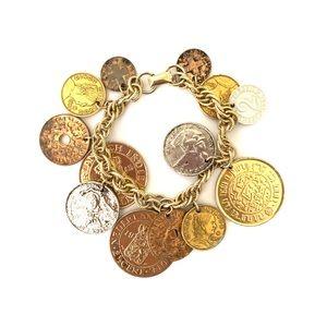 CORO Vintage Coin Charm Bracelet